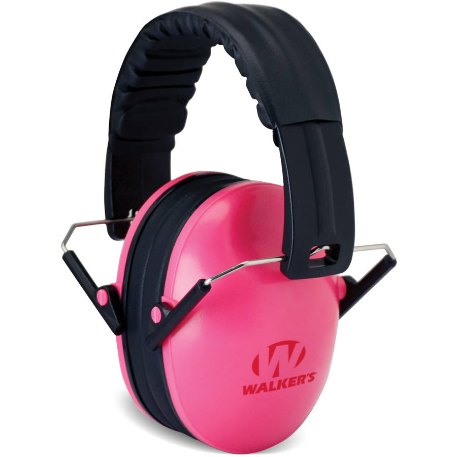 Walker's Game Ear Bi-Folding Kid Muff, Pink