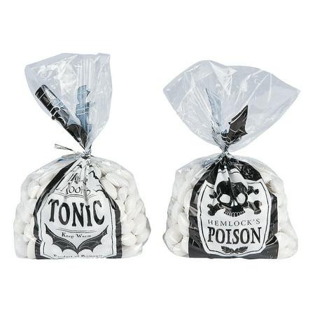 Spooky Soiree Cello Bags(1dz/pbh,12pbh) for Halloween - Party Supplies - Bags - Cellophane Bags - Halloween - 144 Pieces - Soiree Halloween Idee