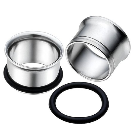 - Stainless Steel Single Flare Tunnel Plugs with