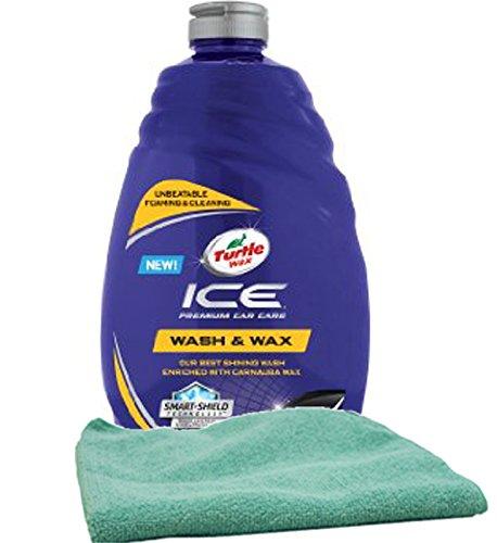 Turtle Wax ICE Premium Care Car Wash (48 oz) Bundled with a Microfiber Cloth (2 Items)