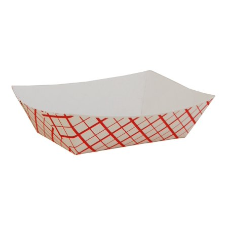 Southern Champion Tray SCH0409 Paper Food Baskets, Red/white Checkerboard, 1/2 Lb Capacity, 1000/carton (Checkered Paper)