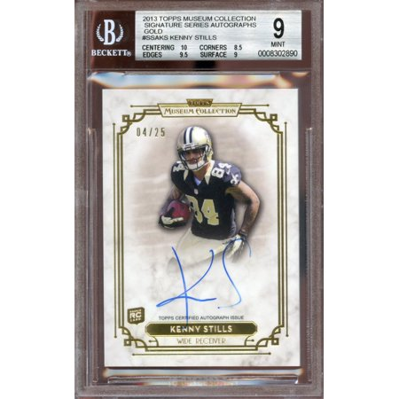 - 2013 topps museum collection signature auto gold #ssaks KENNY STILLS BGS 9 au 9
