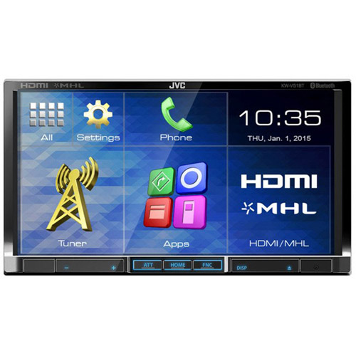 "JVC KW-V51BT 2-DIN DVD Multimedia Receiver with 7"" Monitor and Bluetooth"