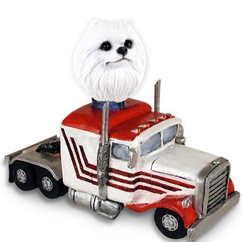 DOOG83206 American Eskimo Miniature Truck Tractor Doogie Collectable Figurine