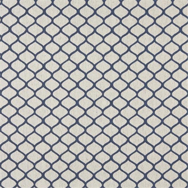 Designer Fabrics K0005E 54 in. Wide Blue And Off White, Modern, Geometric, Designer Quality Upholstery Fabric