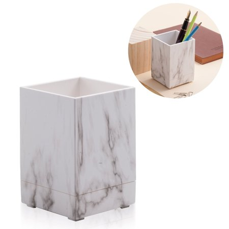 Rule Holder (Zodaca White Marble Pen Pencil Ruler Stationery Holder Cup Office Desktop)