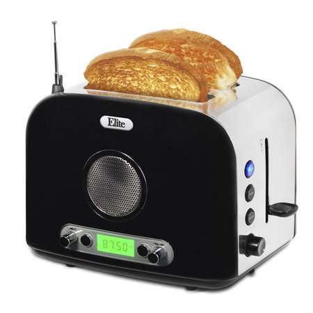 Elite Platinum ERT-6067 2-Slice Stainless Steel Multi-Function Radio Toaster
