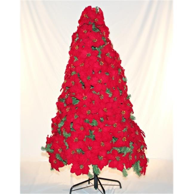 Winterland WL-TRPS-06 6 ft. Tall Poinsettia Tree