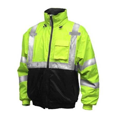 Rubber J26112 Bomber II Jacket, Large, Lime Green