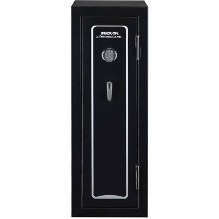 Armorguard 18-Gun Fire Resistant Convertible Safe with Electronic - Black Gun Safe