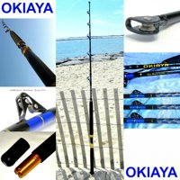 """OKIAYA COMPOSIT 30-80LB ""THE MACK DADDY"" SALTWATER BIG GAME ROLLER ROD"""