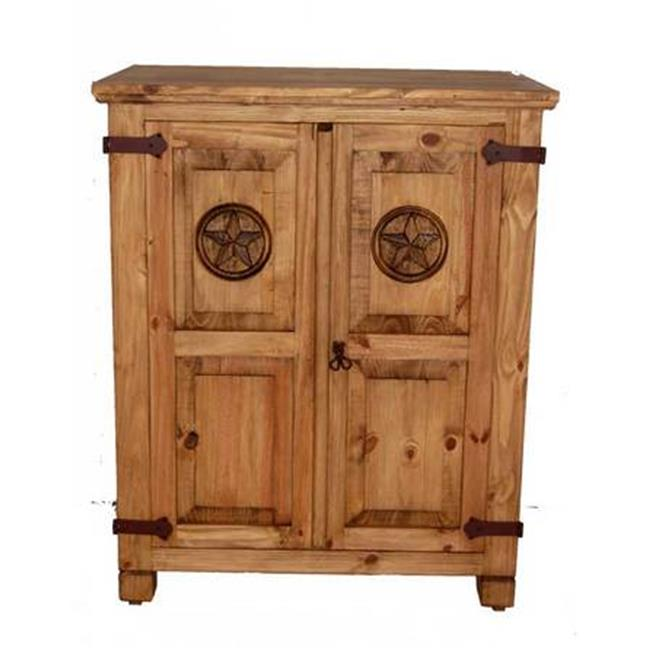 Million Dollar Rustic 01-1-10-22A-TX Small Short Armoire With Star