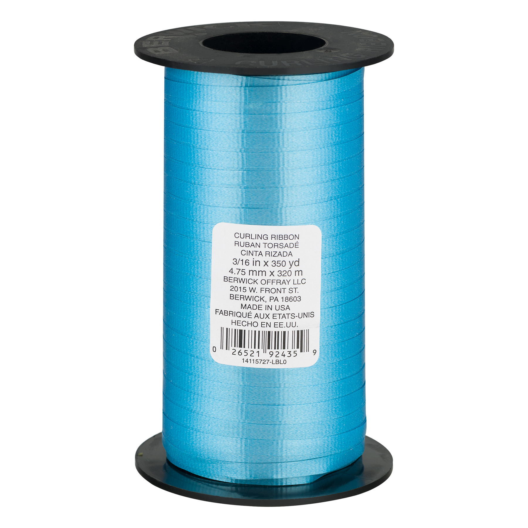Berwick Curling Ribbon Light Blue - 350 Yards, 350.0 YARDS