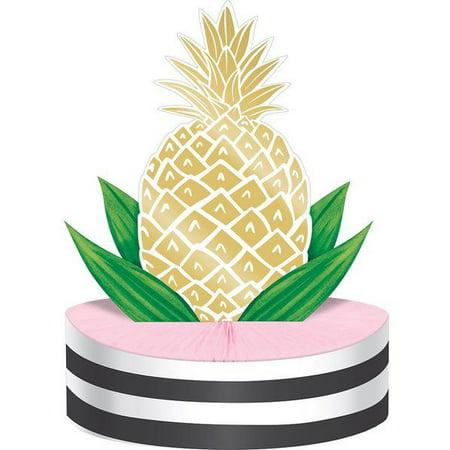 PINEAPPLE HONEYCOMB CENTERPIECE](Pineapple Centerpiece Ideas)