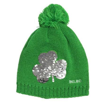 Emerald Kids Shamrock 2 Way Sequin Knit (Guinness Shamrock Hat)