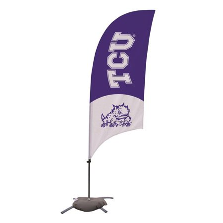 Victory Corps 810029TCU-001 7.5 ft. Tcu Horned Frogs Razor Feather NCAA Flag with Cross Base - No.001 - image 1 of 1
