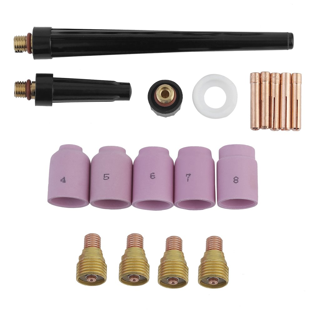 Portable Welding Gun Parts Fits For WP 9 20 25 18pcs Welding Torch Accessories