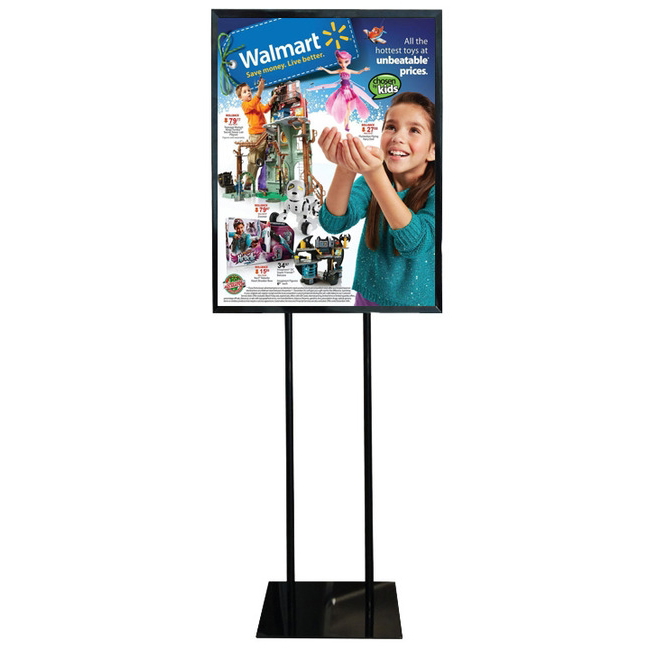 "Floor Standing Poster Display Stand Sign Holder 22"" X 28"" Black"