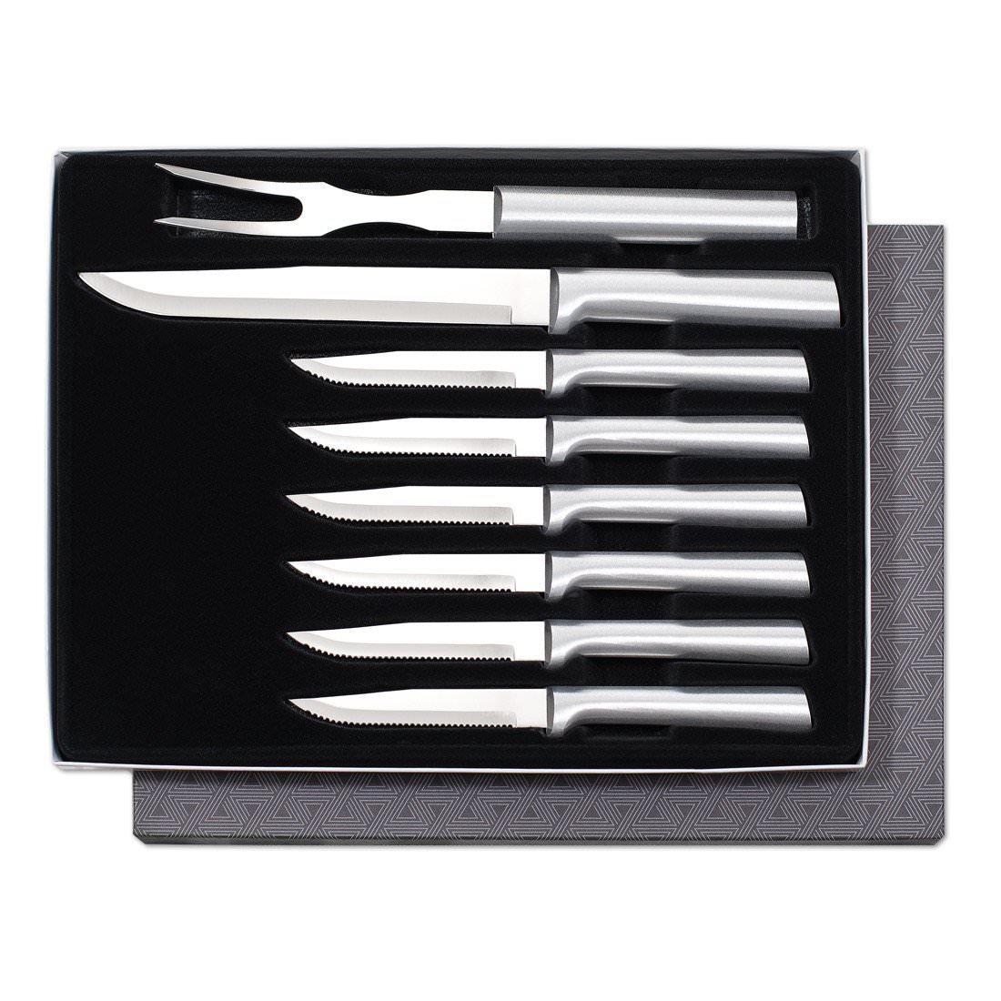 Rada Cutlery Meat Lover's 8-Piece Steak Knife Gift Set – Stainless Steel Blades With Aluminum Handles