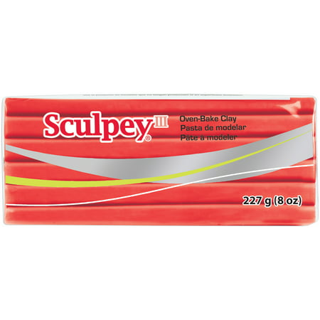 Sculpey III Polymer Clay 8oz Red Hot Red