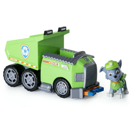 Paw Patrol – Rocky's Recycle Dump Truck Vehicle with Rocky -