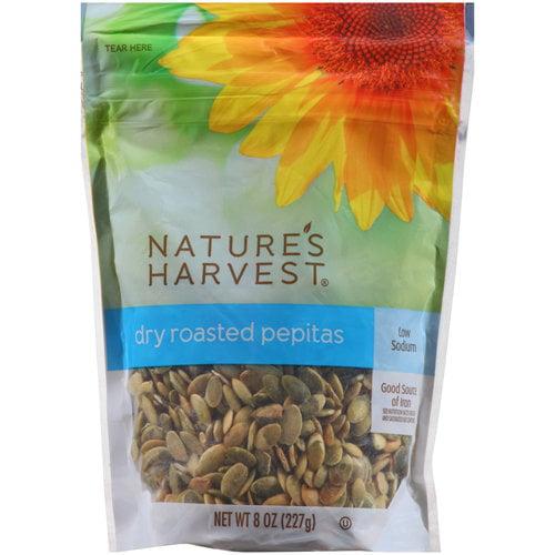 Nature's Harvest Dry Roasted Pepitas, 8 oz
