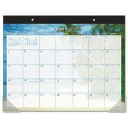 """Ataglance DMDTE232 Recycled Tropical Escape Desk Pad, 22"""" x 17, Design, 2016"""