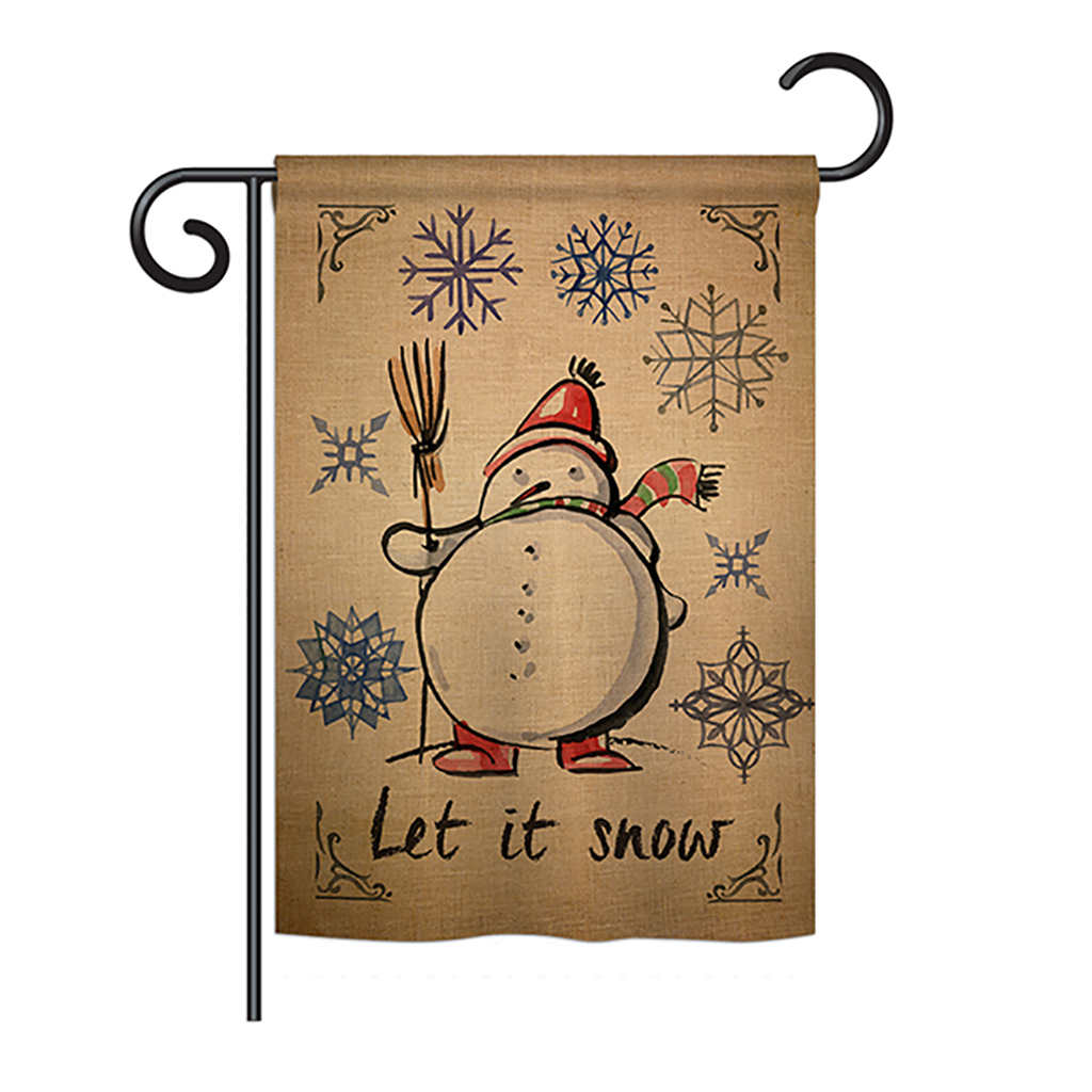 Winter Let it Snow Winter - Winter Wonderland Impressions Decorative Vertical Garden Flag