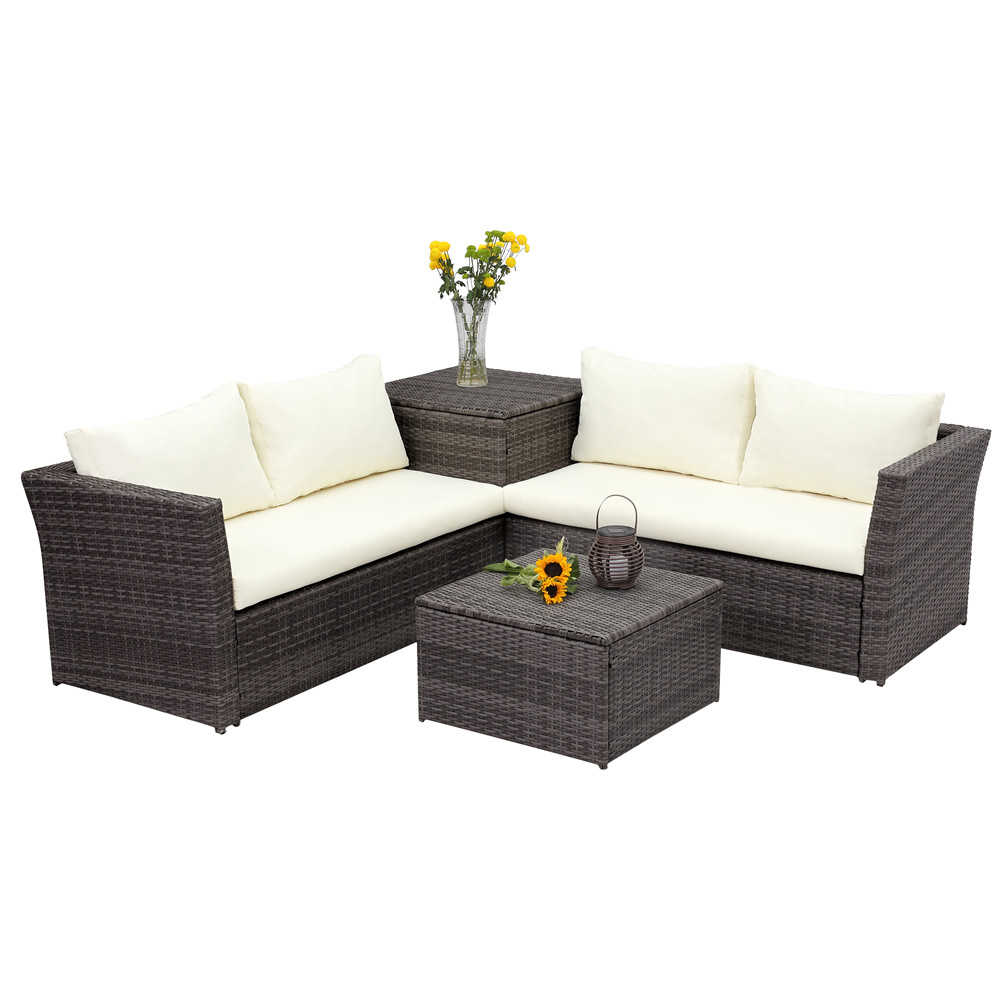 4pcs Patio Sectional Sofa Set Wisteria Lane Outdoor Sofa