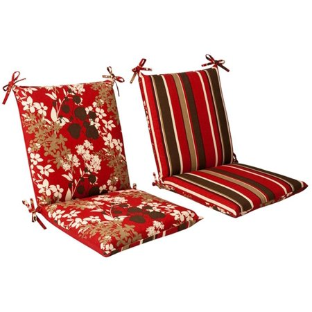 Outdoor Patio Furniture Mid Back Chair Cushion Reversible Tropical