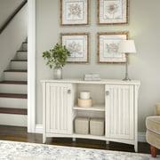 Bush Furniture Salinas Storage Cabinet with Doors in Antique White