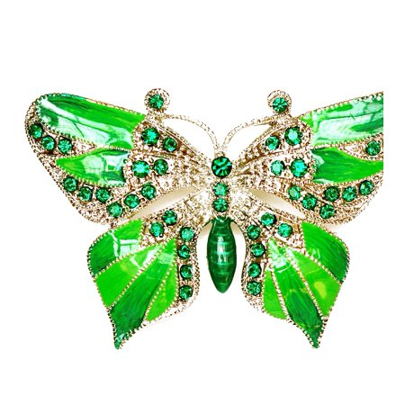 Enamel Womens Pins - Faship Gorgeous Rhinestone Crystal Enamel Buterfly Pin Brooch