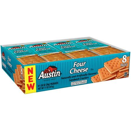 Austin Four Light - (3 Pack) Austin Four Cheese Sandwich Crackers 1.38 oz. 8 Ct Packs