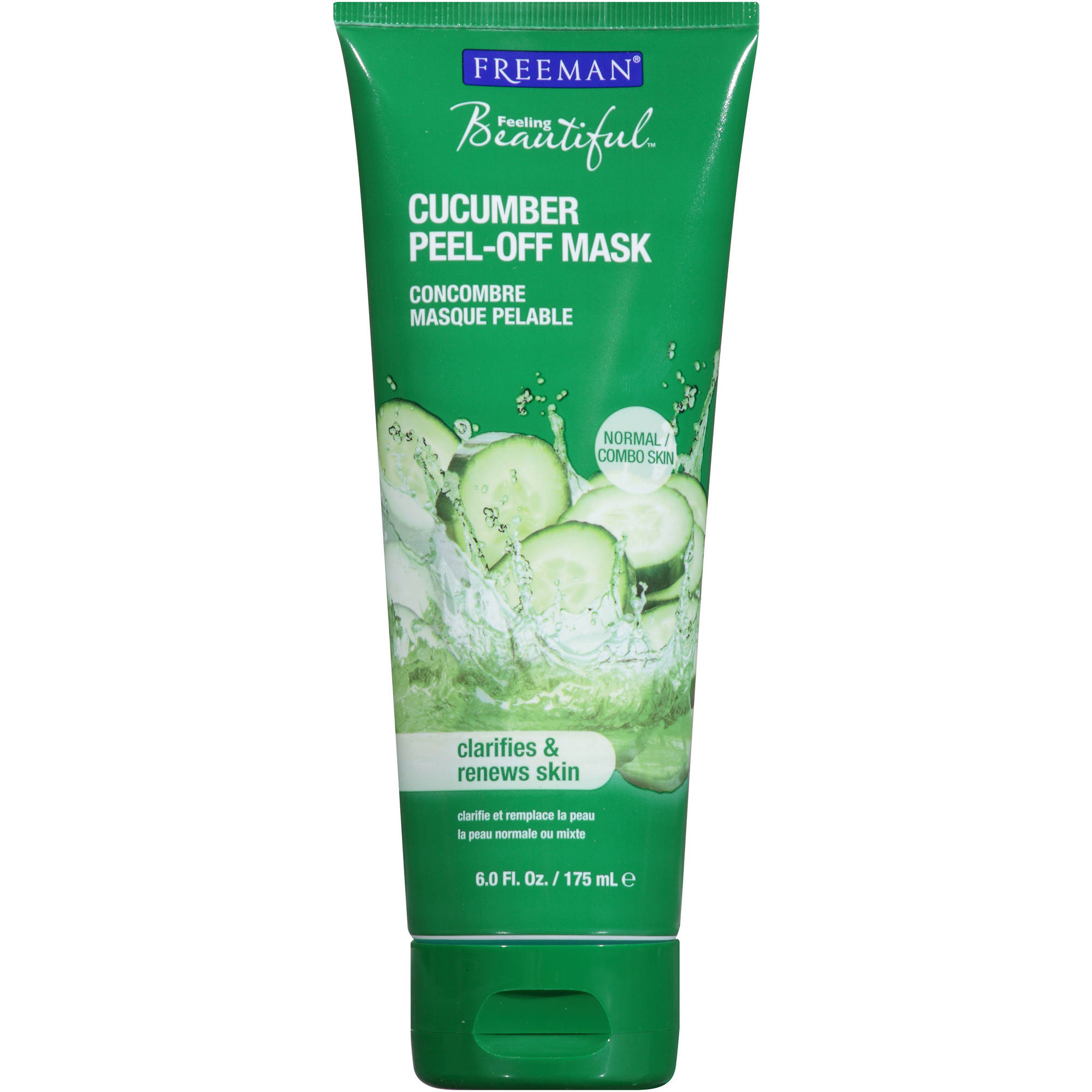 Feeling Beautiful Cucumber Facial Peel-Off Mask, 6 fl oz