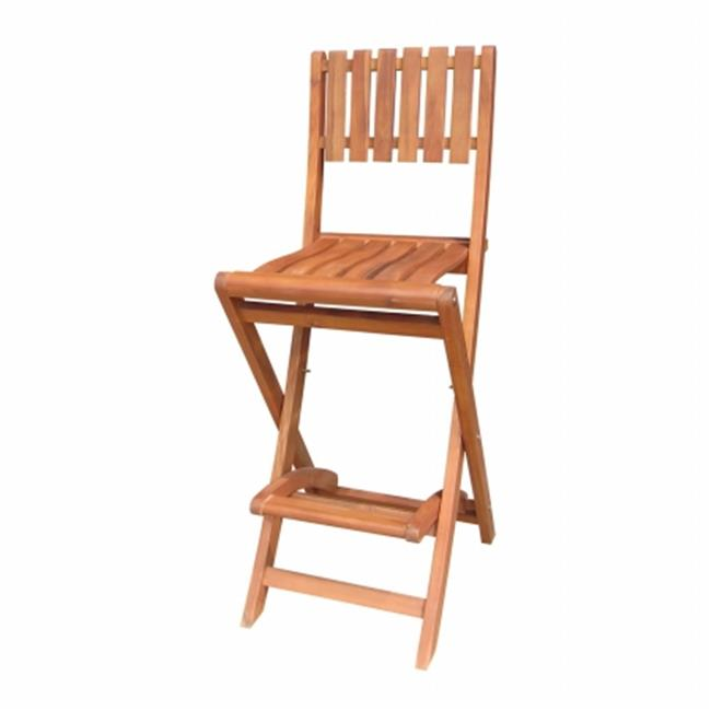 Intenational Concepts S-53928 Folding stool  bar height - 36 in. sh  Oiled