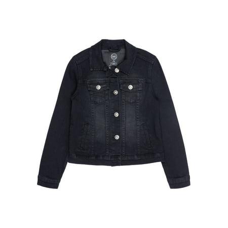 Girl Denim Jacket (Black Denim Jacket (Little Girls, Big Girls &)