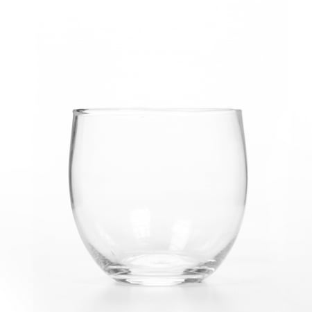 - Mainstays Clear Glass Roly Poly Candle Holder