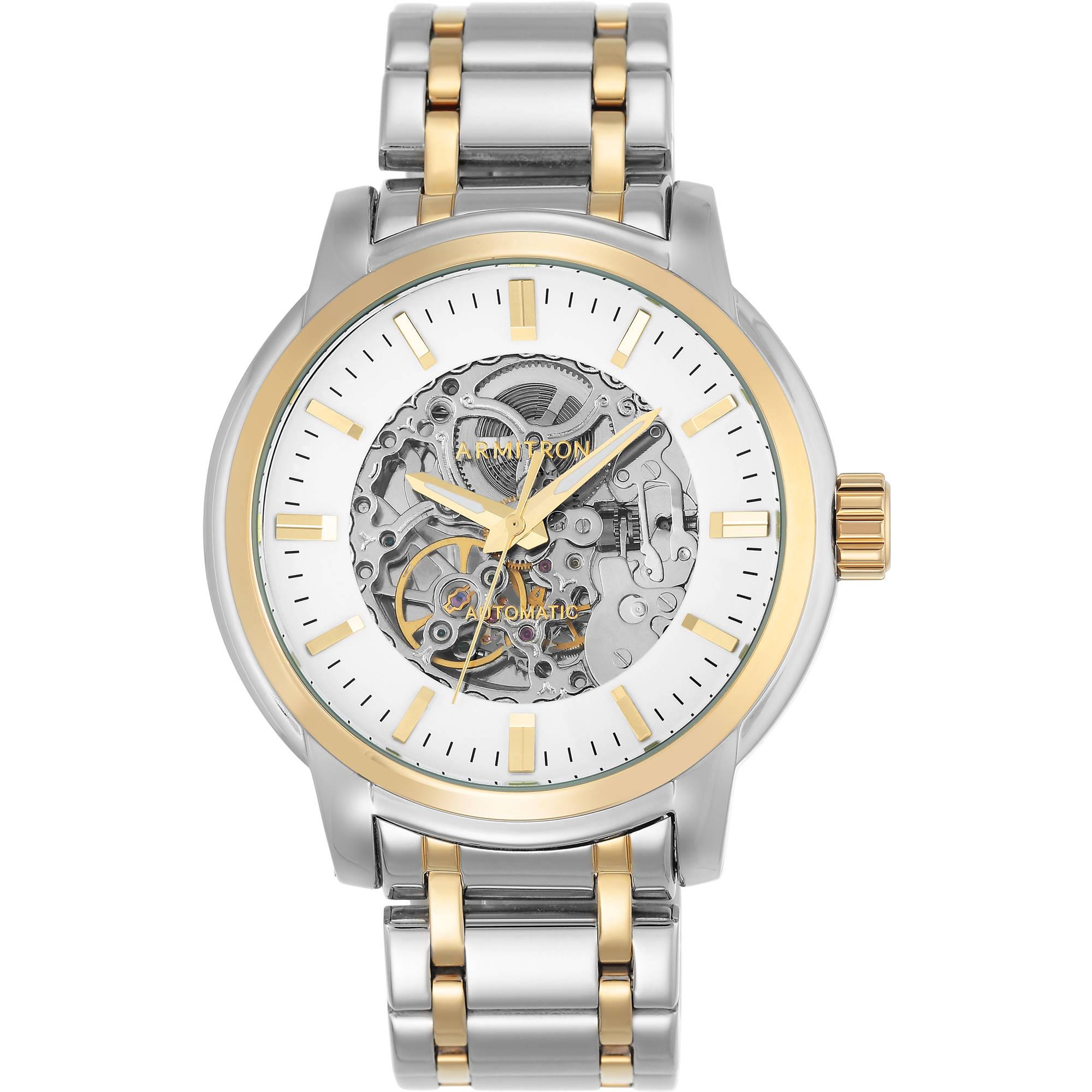 Armitron Men's Dress Automatic Round Watch, Silver Bracelet