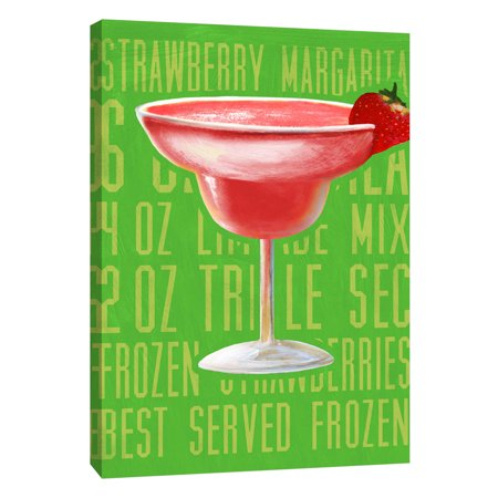 Ptm Images Strawberry Margarita Vertical 16x20 Decorative Canvas Wall Art