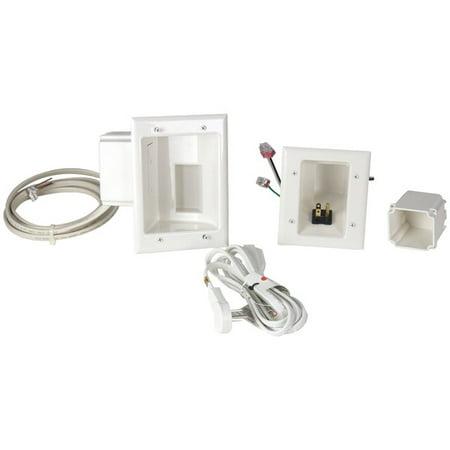 DataComm Electronics 50-6623-WH-KIT Flat Panel TV Cable Organizer Kit with Duplex Power Solution - image 1 de 1