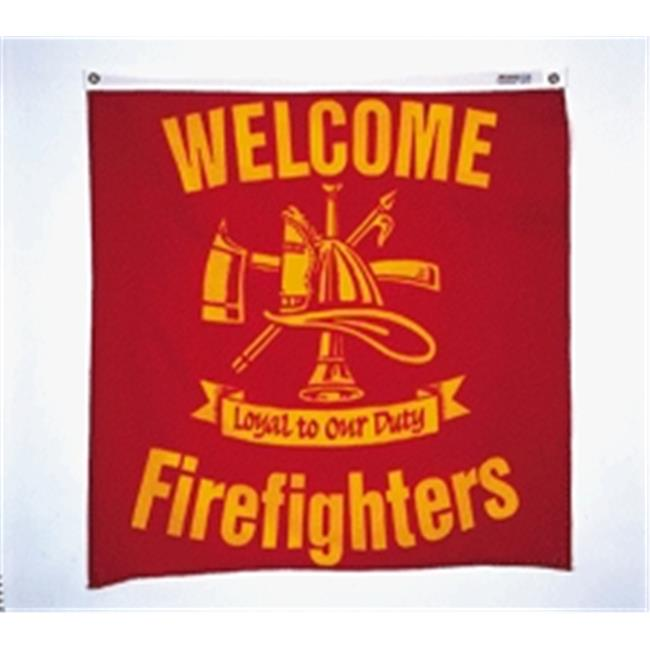 Annin Flagmakers 483801 3 x 3 ft.  Reliance Welcome Firefighters Centers Flag