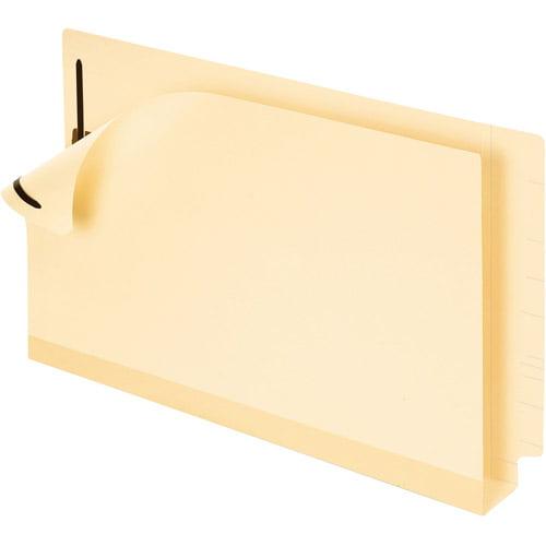 Pendaflex Double Stuff Laminated End Tab Folders, Legal, Manila, Box of 50