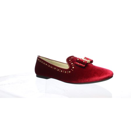 Cole Haan Womens Tali Red Velvet Loafers Size 9