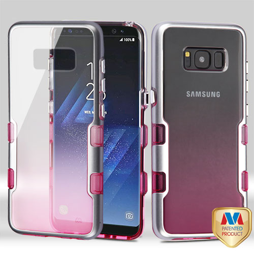 MyBat Transparent Clear TUFF Panoview Hybrid PC/TPU Case For Samsung Galaxy S8 - Rose Gold