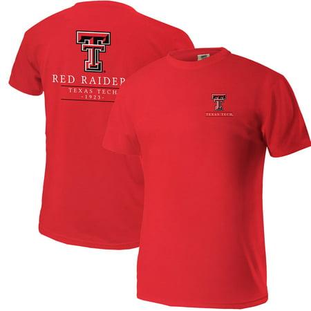 Texas Tech Red Raiders Comfort Colors Mascot T-Shirt - Red Texas Tech Colors