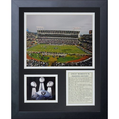 Legends Never Die Oakland Raiders Stadium Framed Memorabili