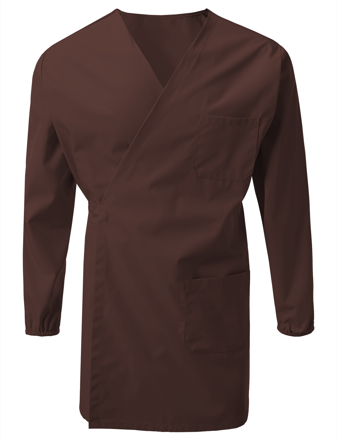 7Encounter Unisex Multifuctional Wrap Smock With Chest And Side Pockets Burgundy Size 2XL/3XL