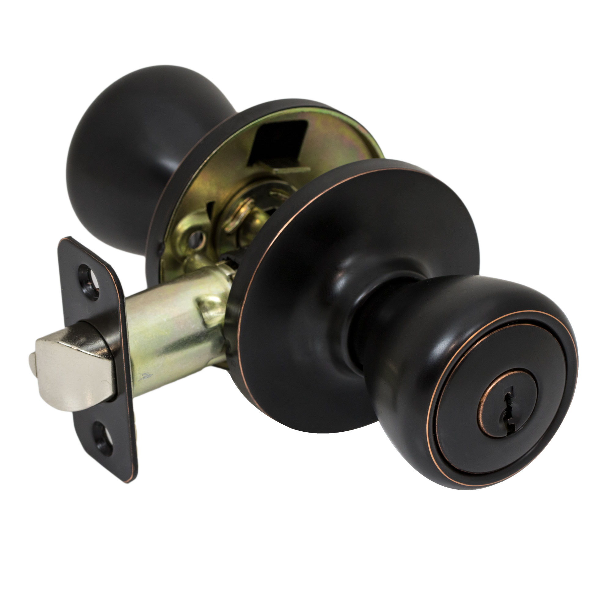 Marvelous Pro Grade Classic Keyed Entry Door Knob Handle Lockset, Oil Rubbed Bronze