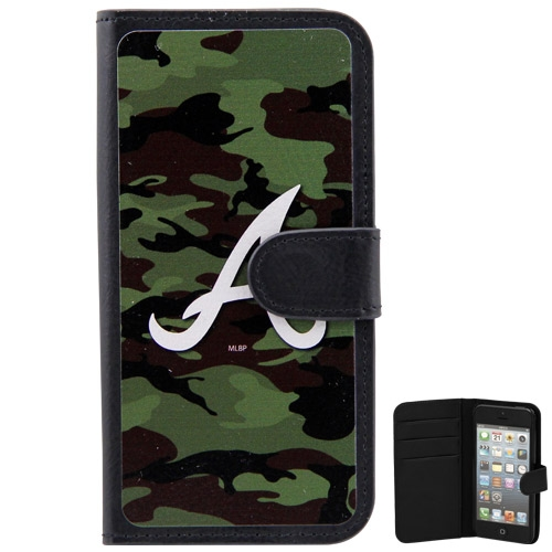 Atlanta Braves iPhone 5 Wallet - Camo - No Size