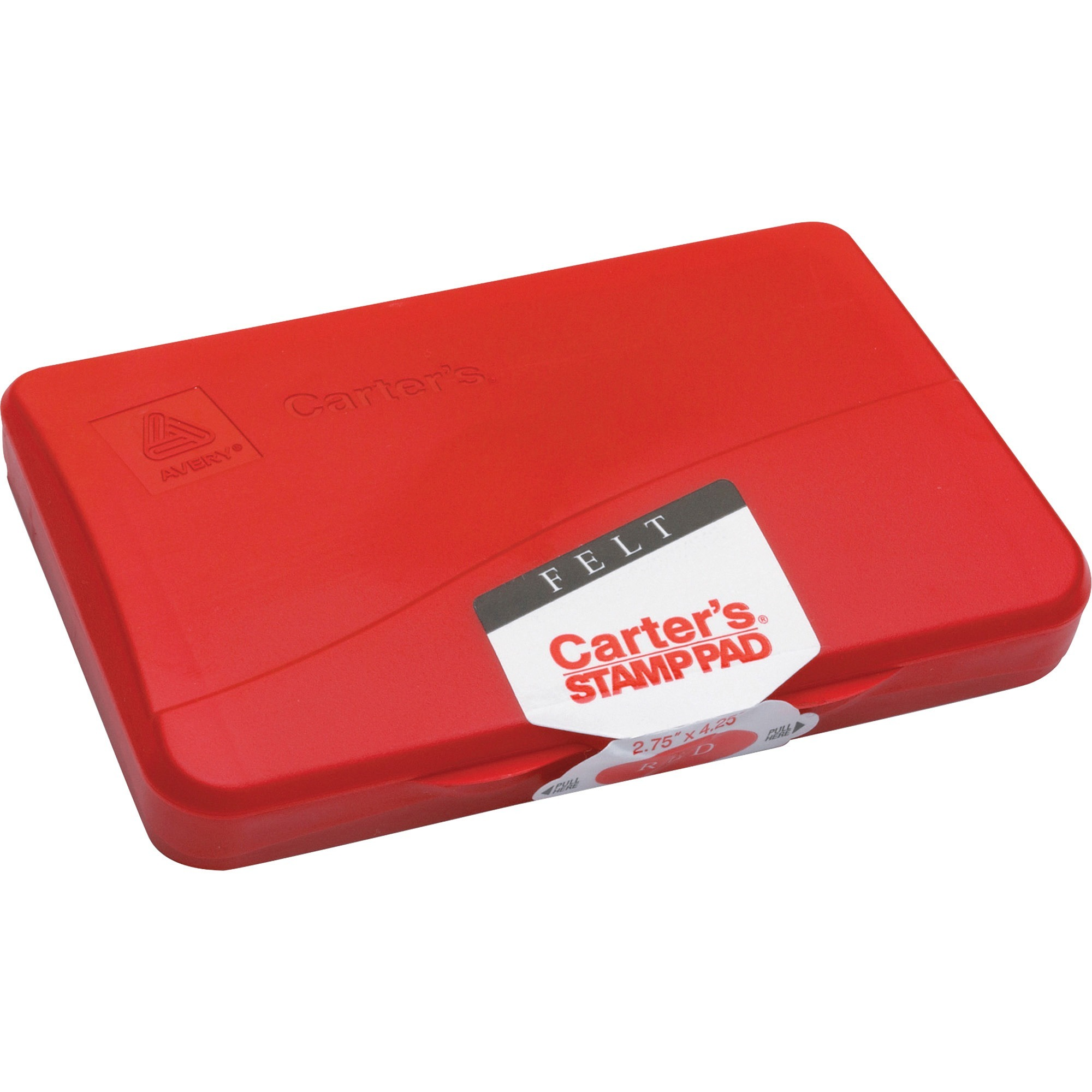 Carter's Carter's Felt Stamp Pad, 4 1/4 x 2 3/4, Red